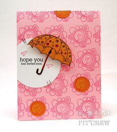 Julia Stainton rocks the spring colors with this super happy card.