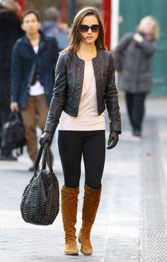 Pippa Middleton con stivali marroni Come abbinare gli stivali marroni