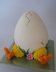 Happy Easter 2011 - Chicken Hatching By Yummy-MummyCakeCreations on CakeCentral.com