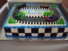Nascar Racing Cake | cars are hotwheels. I couldnt find actu… | Flickr