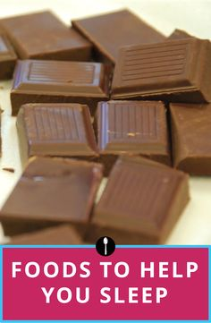 How eating a square of chocolate before bed will improve the quality of your sleep.