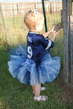 Dallas Cowboys Superfan! Children's tutu. Navy blue, silver and white.