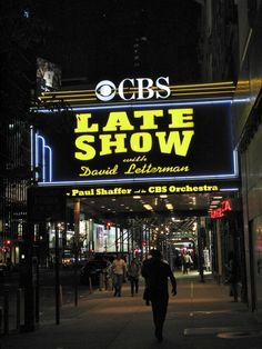Letterman show taping -- knock this off the bucket list. Happy Birthday Chris!