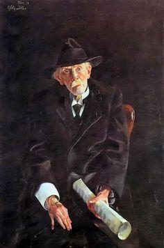 Portrait of Clemens Braun by Conrad Felixmüller, (German 1897-1977)