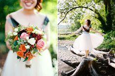Love this bride's dress and entire look! Triplebrook wedding photography Vashon Island