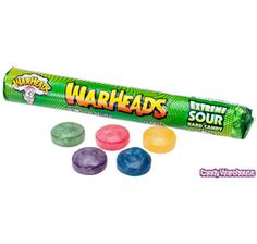 WarHeads Extreme Sour Candy Rolls: 15-Piece box