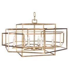 Cubist Industrial Modern Open Gold Pendant