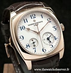Montre de luxe Vacheron Constantin Harmony Dual Time or rose Old Watches, Swiss Army Watches, Watches For Men, Nice Watches, Wrist Watches, Elegant Watches, Beautiful Watches, Vacheron Constantin, Heart Function