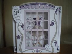 Katy Sue Fabulous Fashion Shop Front Card Personalised Cards, Happy 21st Birthday, Hobbies And Crafts, Vintage Cards, Gates, Projects To Try, Birthdays, Card Making, Shops