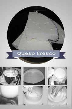 Queso fresco Fresh Cheese Recipe, Homemade Cheese, Cheese Recipes, Chilean Recipes, Chilean Food, Queso Cheese, A Table, Finger Food, Yogurt