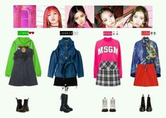 A fashion look from August 2017 featuring trapeze dresses, pink top and green hoodie. Browse and shop related looks. Kpop Fashion Outfits, Blackpink Fashion, Tokyo Fashion, Stage Outfits, Daily Fashion, Korean Fashion, Womens Fashion, Pink Outfits, Cute Outfits