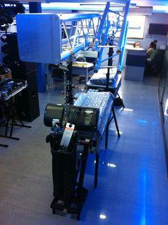 Visita a Audio Market con  torres elevadoras y trusses FENIX / Visit to Audio Market with FENIX lifting towers and truss.