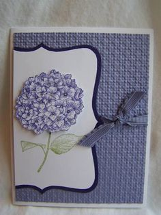 Purple Hydrangea by rrhawkins4 - Cards and Paper Crafts at Splitcoaststampers