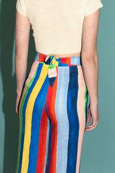 Mara Hoffman - Rainbow Stripe Tie Front Pant   BONA DRAG