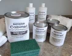 You can transform your kitchen cabinets without having to sand or remove the doors using RustOleum Cabinet Transformations Kit! $129 for a large kitchen!