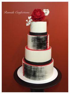 Red White Black  by Ramids - http://cakesdecor.com/cakes/223509-red-white-black