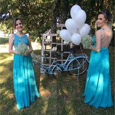 Vestido azul tiffany para madrinhas e formandas!