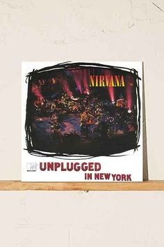Shop Nirvana - MTV Unplugged In New York LP at Urban Outfitters today. Vinyl Music, Vinyl Records, Nirvana, Culture Album, Alternative Artists, Mtv Unplugged, Something In The Way, Buy Vinyl, Night Live