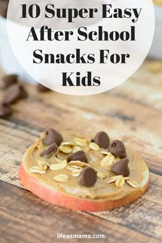 Are your kids STARVING after school? (aren't they all?) You'll love these quick and healthy after school snack options that won't fill them up before dinner!