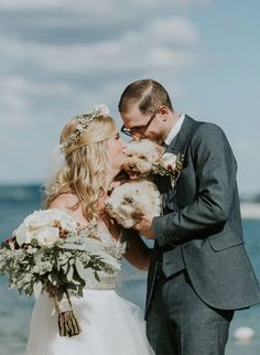 Featured Photographer: Le Cape Weddings; pet in the wedding idea via Inspired By This