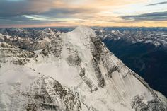 Flying above the Canadian Rockies along the great divide.