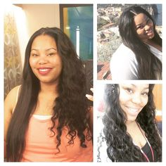 New Texture Alert Peruvian Wave is the PERFECT Vacation/Beach hair! This texture offers a lower maintenance wave than our deep wave with more texture and body than our loose wave. Try this texture this weekend and take 15% OFF your purchase (email complete order details for invoice). Picture: (left) original state to straight (top right) straightened (bottom right) after first co-wash. Thanks to my stylist for the perfect install in and out in an hour and very professional! @laurenloveshair…