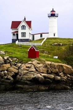 """Commonly known as the """"Nubble"""" Lighthouse, it is located in Cape Neddick, Maine USA"""