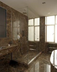 Frameless glass enclosure #bathroom #interior #Glasstrends