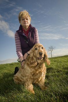PDSA Pet fit club finalist Billy the dog with owner Jane Hunter by PDSA, via Flickr