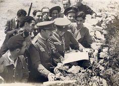 El Ministro de la Guerra en el frente de Somosierra. Autor: Albero y Segovia - Portal Fuenterrebollo