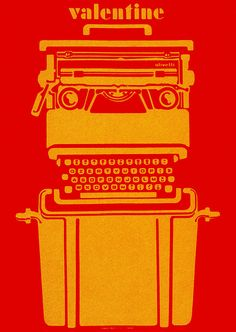 Silkscreen poster for a portable typewriter (Italy). Designer Robert Pieraccini. From Graphis Posters 173. Blogged at Aqua-Velvet.