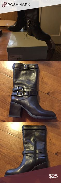 Brand new Jessica Simpson brown boots Still in original box. Never worn. Heeled Jessica Simpson boots. Size 7M brown leather Jessica Simpson Shoes Heeled Boots