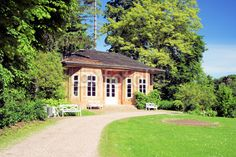 Teahouse in the castle park Tiefurt near Weimar in Thuringia.