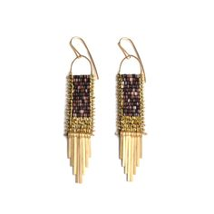 Gold in the Dust earrings by Demimonde
