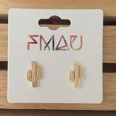 Dieser Spaß und schrulligen Kaktus Ohrringe bestehen aus Edelstahl.  Genießen Sie X