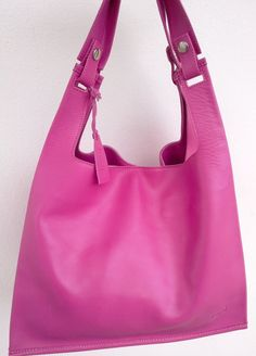 Lumi Pink Leather Supermarket Bag by loveusati on Etsy