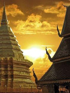 Golden Temple - Thai lovely art.