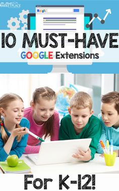 10 must have extensions for students and teachers! This post will give you ideas to make your life easier, while helping your students achieve great things with their chromebooks. This list of 10 extensions are must-haves for any chrome device from K-12! (Kindergarten, 1st, 2nd, 3rd, 4th, 5th, 6th grade, middle school, high school) #thirdgrade #fourthgrade #mrmault #edtech #googleclassroom #google #googleextensions