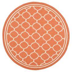 """Renee Square 5'3"""" X 5'3"""" Outdoor Patio Rug - Terracotta / Bone - Safavieh, Orange"""