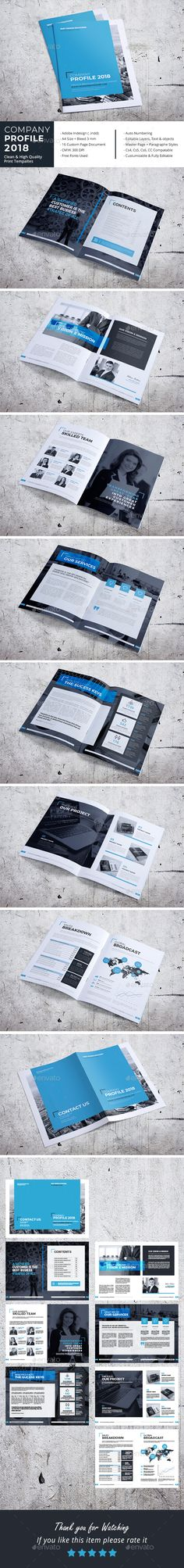 Company Profile 2018 — InDesign INDD #us letter #magazine • Download ➝ https://graphicriver.net/item/company-profile-2018/21176842?ref=pxcr