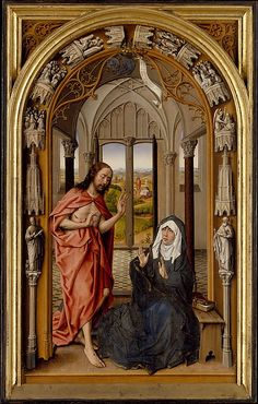 Christ Appearing to His Mother, c.1496, Juan de Flandes. (Metropolitan Museum of Art)