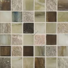 Pocono Green 1'' x 1'' Glass and Stone Glossy Tile