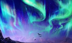 Northern Lights Speedpainting by Exileden