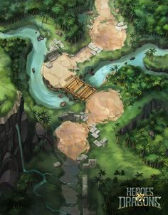ArtStation - Heroes & Dragons Maps, Laurence Viollet