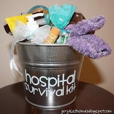 Next family member or friend to get pregnant is totally getting a hospital survival kit from me! :)