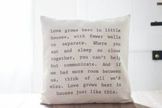 Love Grows 16 x 16 Pillow Cover home decor by ParrisChicBoutique