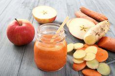 succo di carota, mela e zenzero
