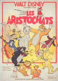 Affiche originale Walt Disney Les Aristochats in Collections, Calendriers, tickets, affiches, Affiches pub: anciennes Posters Disney Vintage, Vintage Cartoons, Disney Movie Posters, Cartoon Posters, Vintage Comics, Retro Wallpaper, Disney Wallpaper, Cartoon Wallpaper, Old Disney