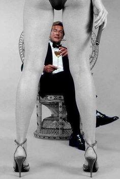 Roger Moore as Bond.