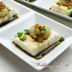 Let's get Wokking!: Steamed Tofu with Scallops 扇贝蒸豆腐 | Singapore Food Blog on easy recipes